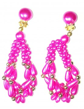 Ohrclips, pink