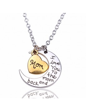 I love you to the moon and back MOM Halskette