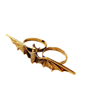 Bat Fledermaus Doppel Ring