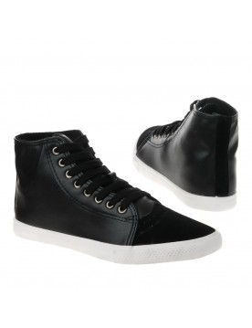 High Top Sneakers, schwarz